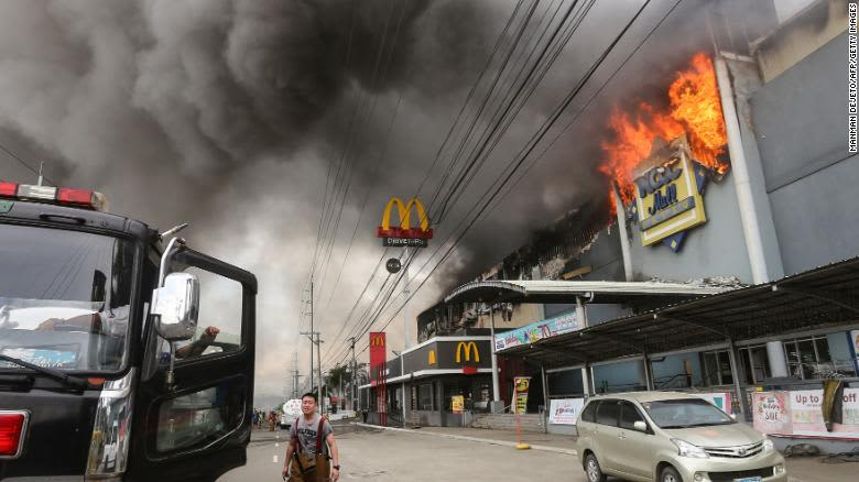 Philippines mall fire in Decemeber, 2017