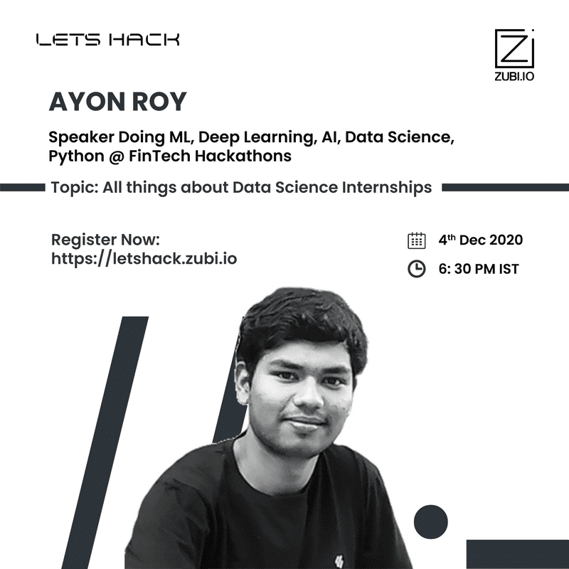 All things about Data Science Internships - Ayon Roy