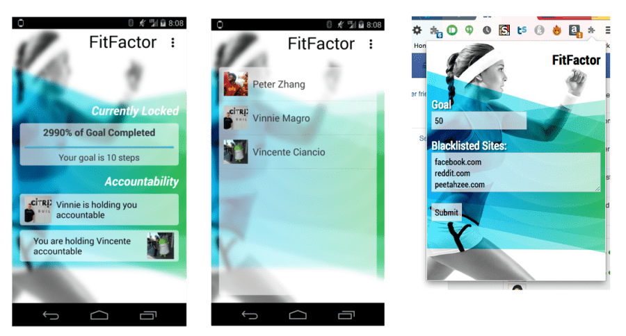 FitFactor Android App and Chrome Extension