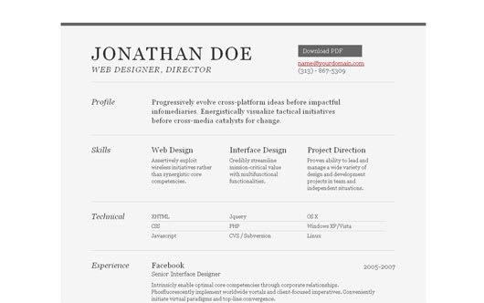 35 best online cv resume templates web graphic design bashooka