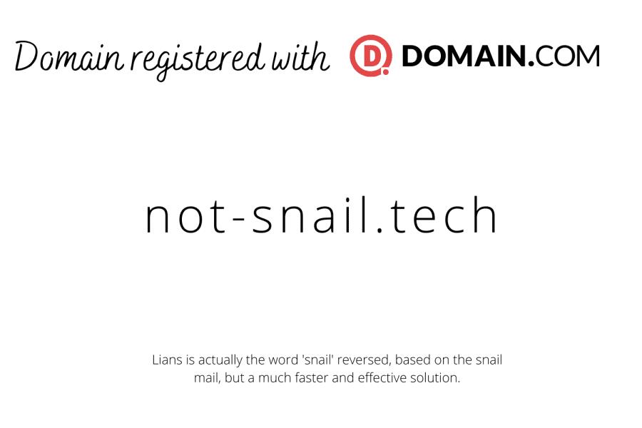 not-snail.tech