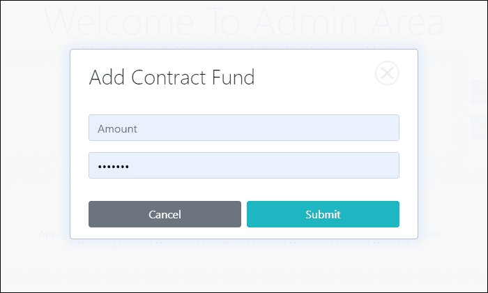 Add Contract Fund