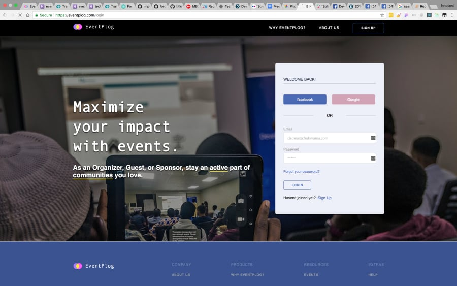 EventPlog Homepage