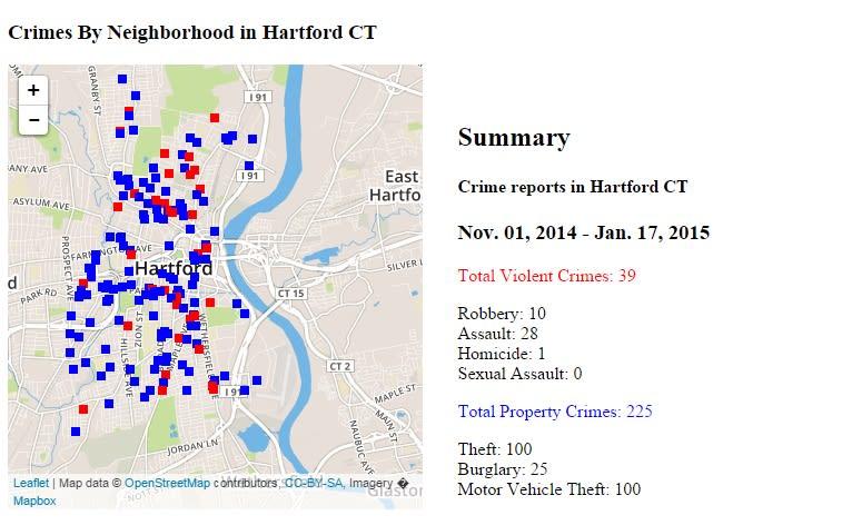 Hartford CrimeMapper
