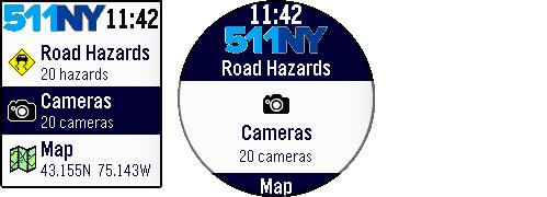 Main menu - Cameras