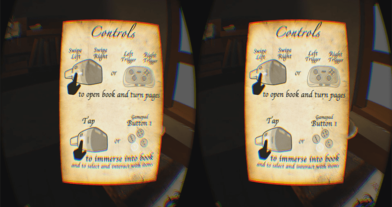 book scene controls