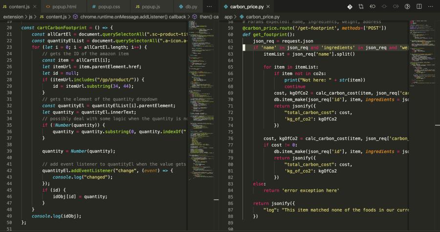 Example Code Screenshot