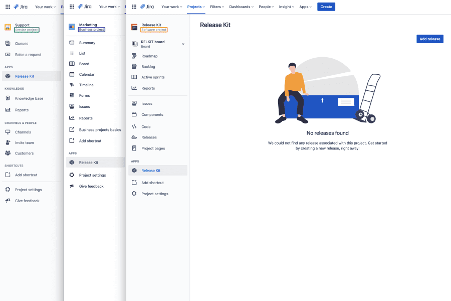 Bringing releases to every type of Jira project
