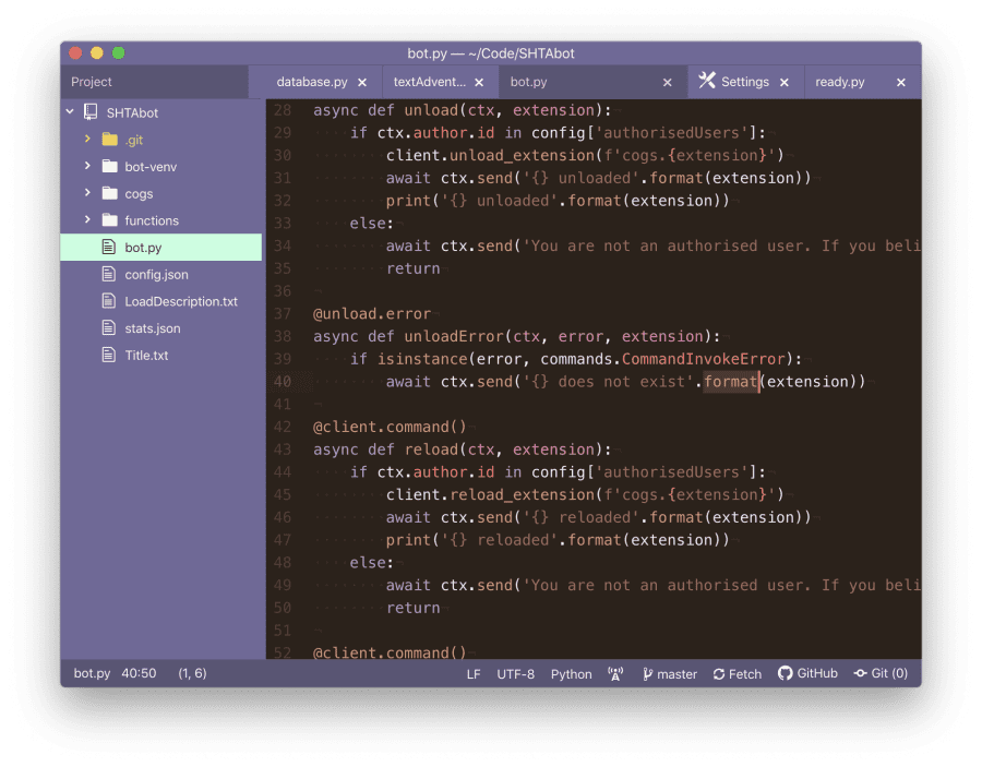 A picture of the code editor Atom