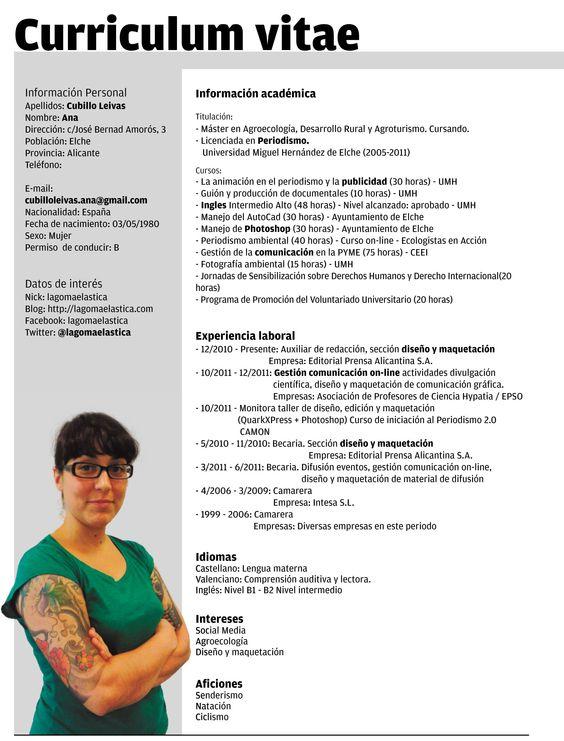 Curriculum Vitae  Curriculum Vitae