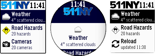 Main menu - Weather