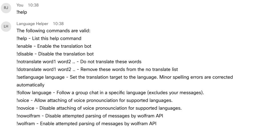Webex Language Support & Queries | Devpost