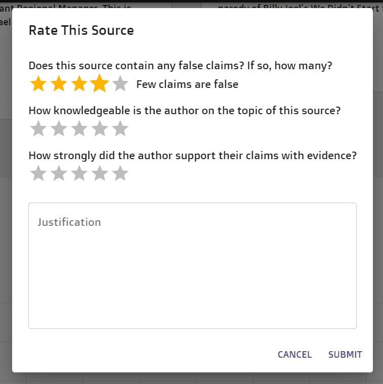 rating dialogue