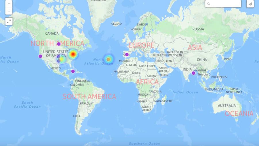 Map of CartoDB visualization