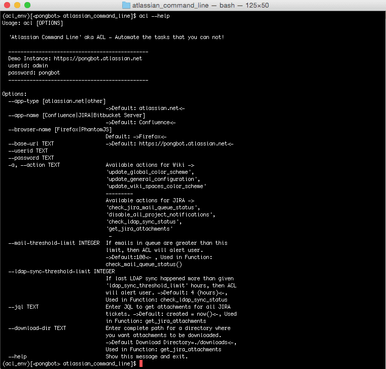 Automate the Atlassian from Command Line (ACL)   Devpost
