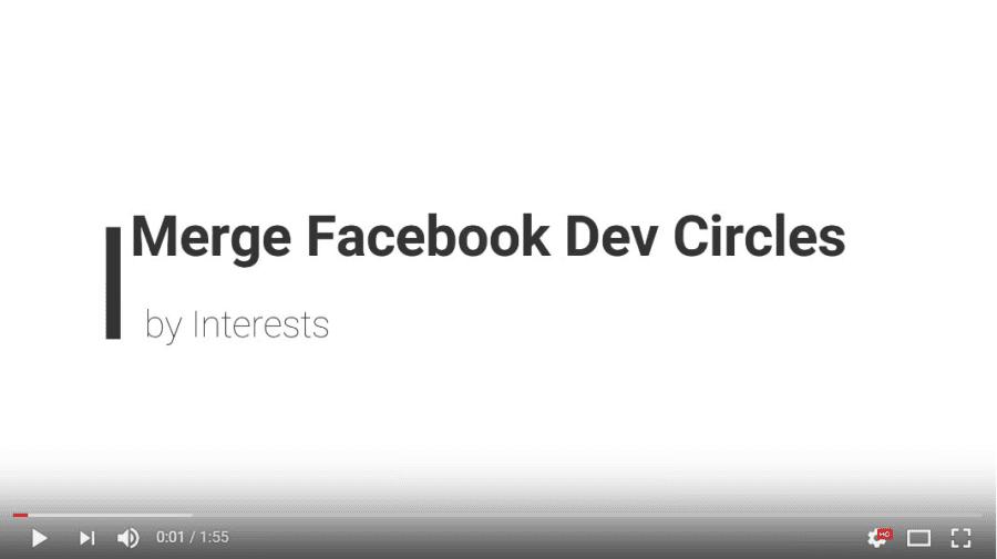 Merge Facebook Dev Circles by Interests