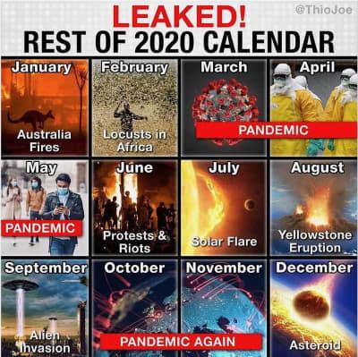 2020 Calendar Meme