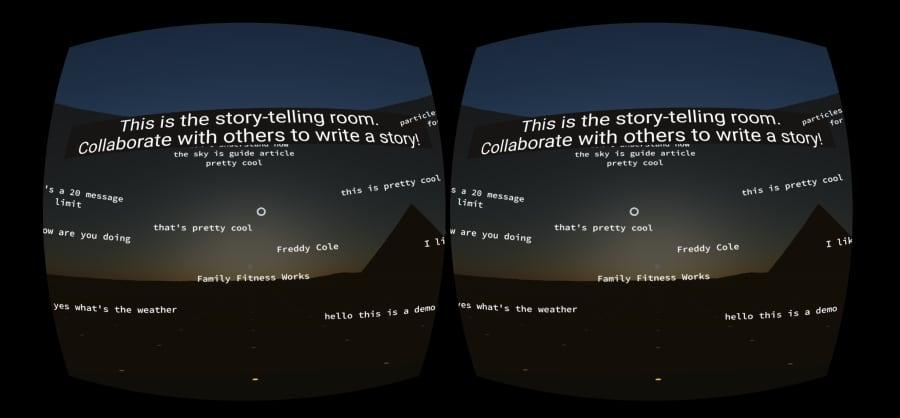 Screenshot of Bulletin in a VR HMD