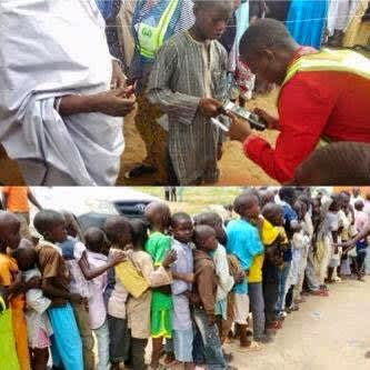 Under aged voters in a voting queue