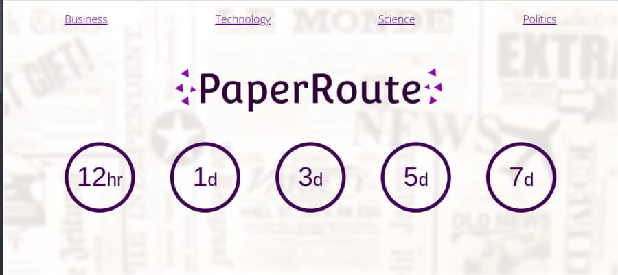 Landing Page of Paper Route