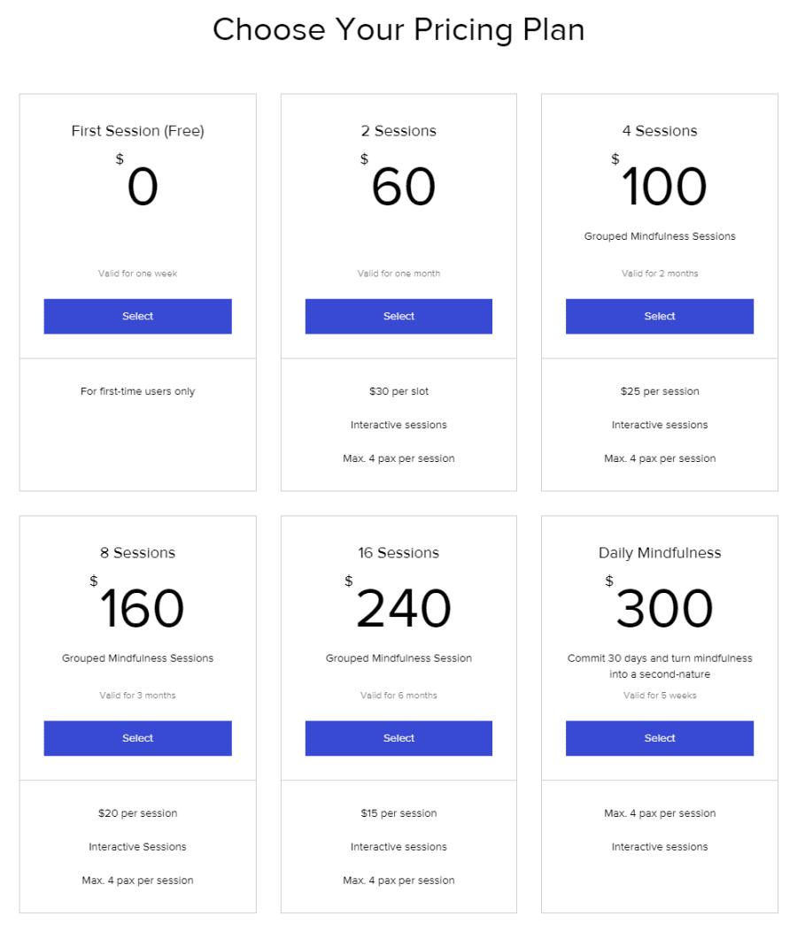 Pricing plan selection