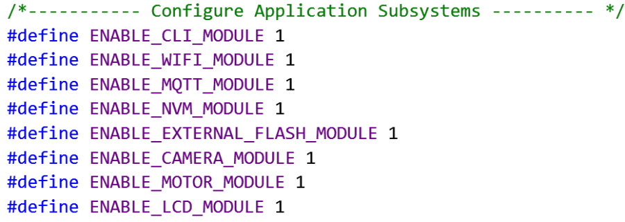 Subsystem Configuration