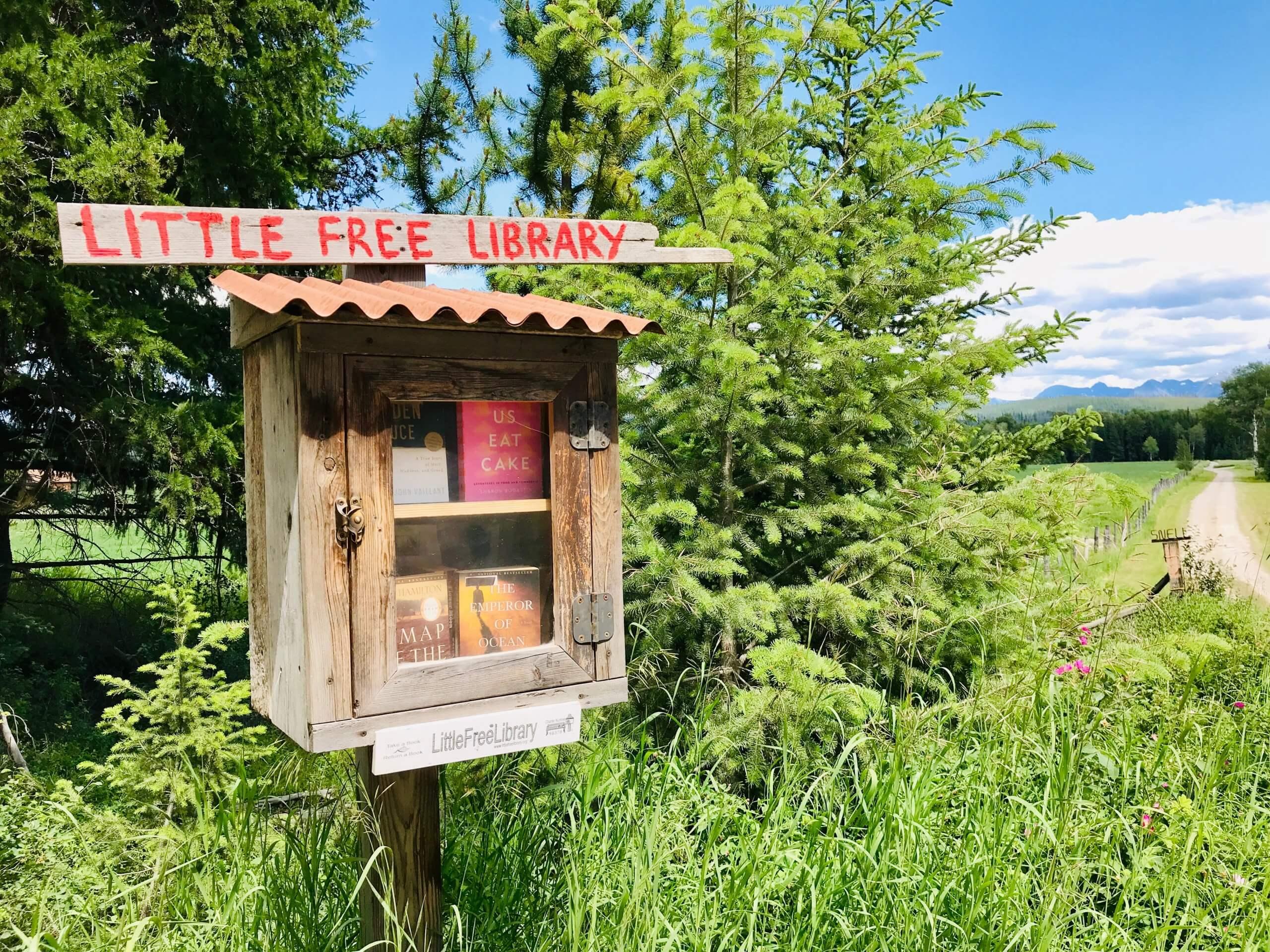 little free library Polebridge MN