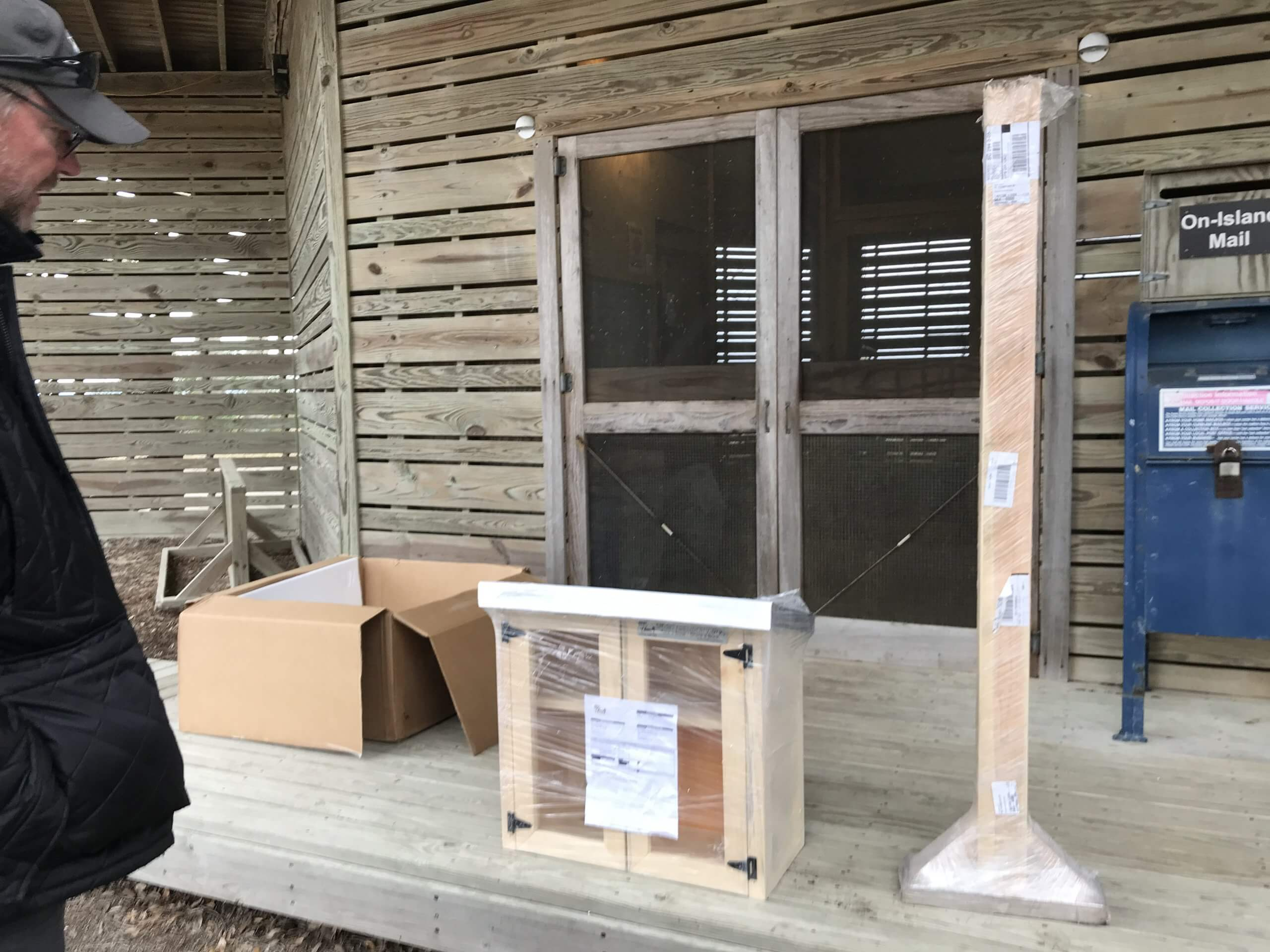 little free library arrives at the mailroom