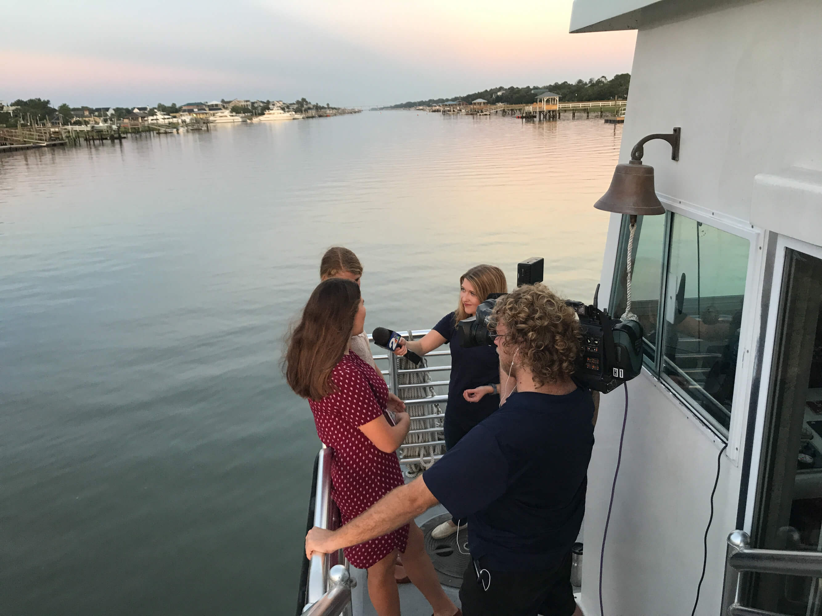News 2 Covers Start of Dewees School Year: 8 kids on the ferry this year