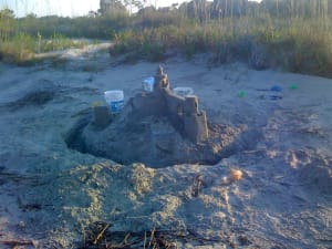 Sandcastle found on Dewees Inlet side of Dewees Island