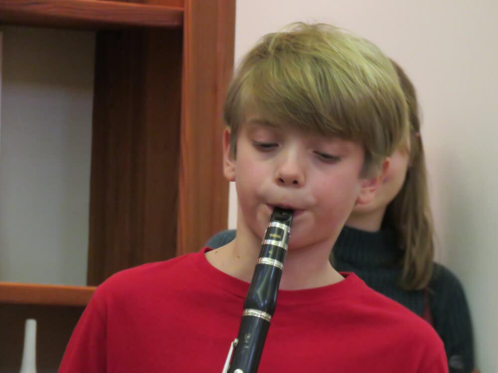 kids holiday concert Sam