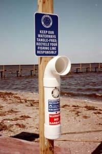 Fishing Lining Recycling Bins