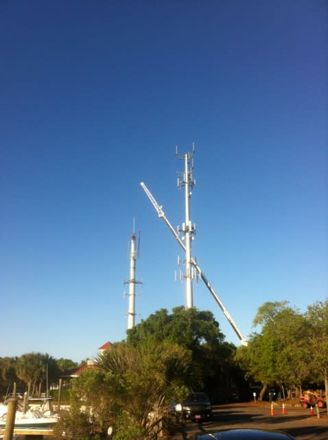 Cell Tower Being Removed