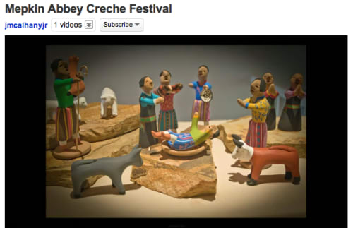 screenshot of Mepkin Abbey Creche festival video