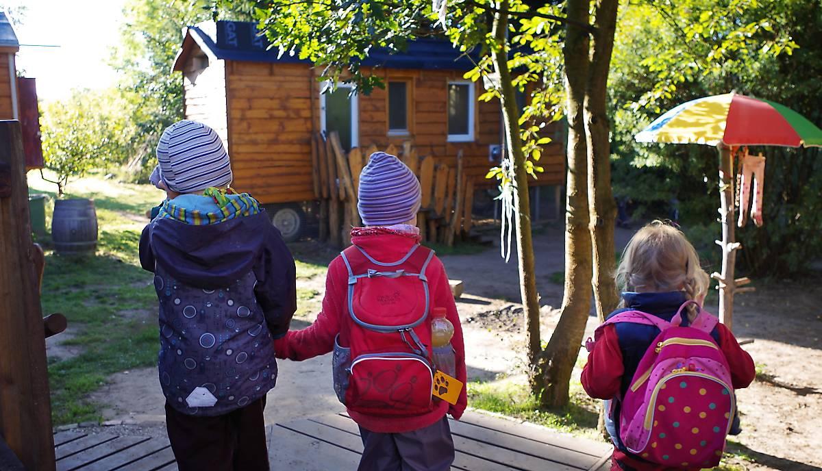 Kinder des Waldkindergartens