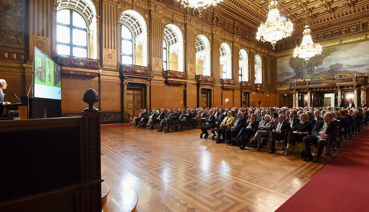 25 Jahre Deutsche Wildtier Stiftung im Großen Festsaal im Hamburger Rathaus