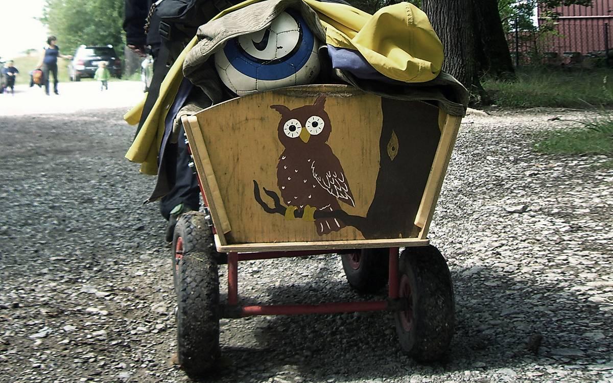 Bollerwagnen im Waldkindergarten