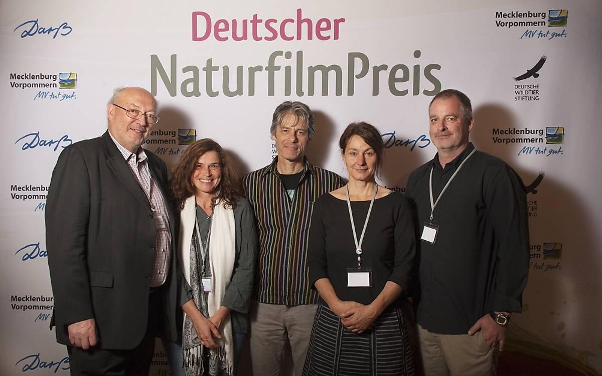 Die Nominierungsjury: Prof. Dr. Manfred Niekisch, Rosie Koch, Christian Cools, Bettina Borgfeld, Daniel Opitz (von links nach rechts).