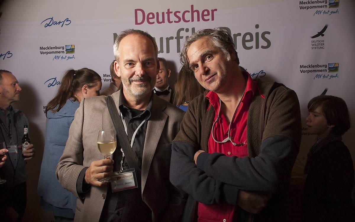 Lothar Frenz, Drehbuchautor und Oliver Goetzl, Tierfilmer und Musiker (von links nach rechts).