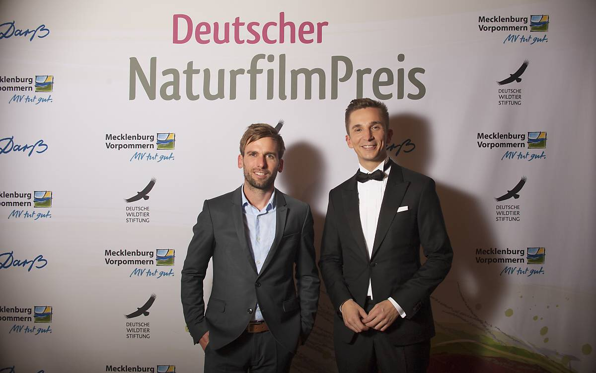Kai Lüdeke, Geschäftsführer Deutsche NaturfilmStiftung und Eric Mayer, Moderator des Festivals (von links nach rechts).
