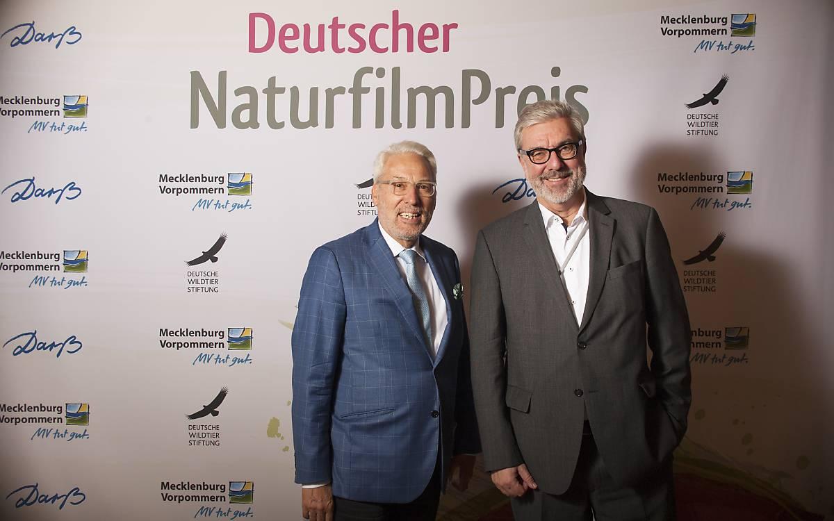 Prof. Dr. Fritz Vahrenholt, Alleinvorstand der Deutschen Wildtier Stiftung und Michael Miersch, Moderator der Veranstaltung (von links nach rechts).