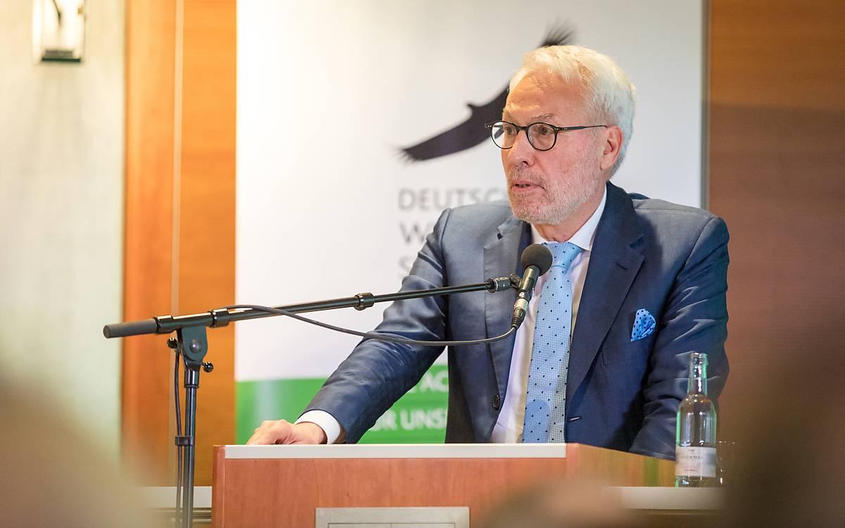 Prof. Dr. Fritz Vahrenholt, Alleinvorstand der Deutschen Wildtier Stiftung.