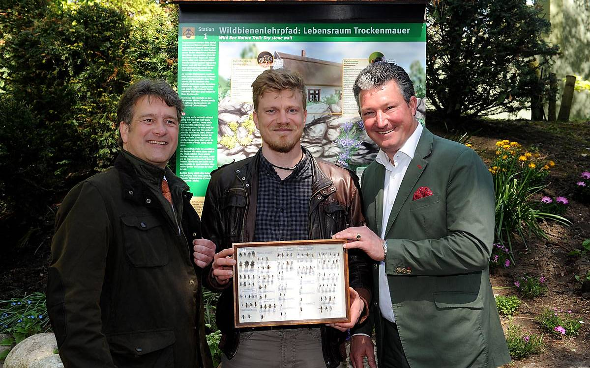 Eröffnung des Wildbienenlehrpfades in Hagenbecks Tierpark