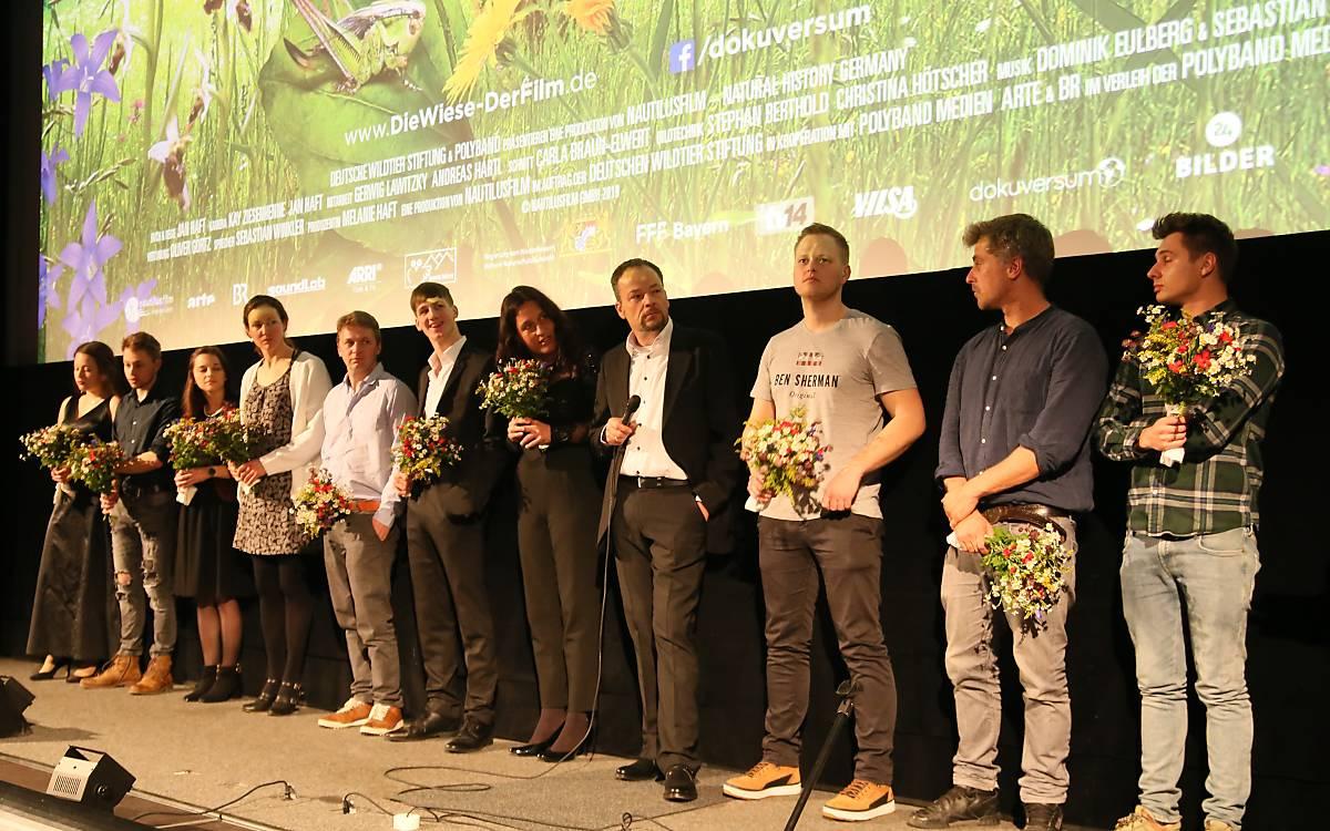 Das Nautilusfilm-Team beim Interview nach der Kinopremiere. Alle Fotos: Deutsche Wildtier Stiftung