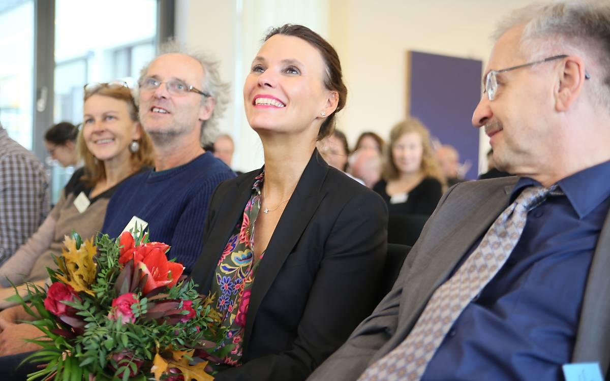 Die Parlamentarische Staatssekretärin aus dem Bundesumweltministerium, Rita Schwarzelühr-Sutter, hielt ein Grußwort - Foto: DeWiSt / Mo Camara