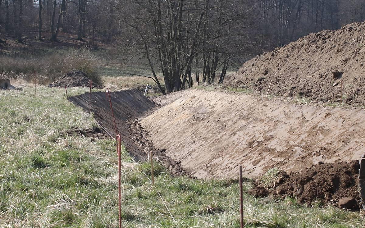 Vorbereitung der Renaturierung des Goldbachs - Foto: Michael Tetzlaff