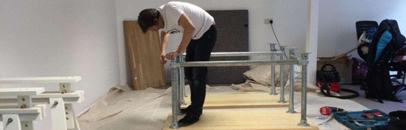 Dewsign Bamboo & Scaffold Desks