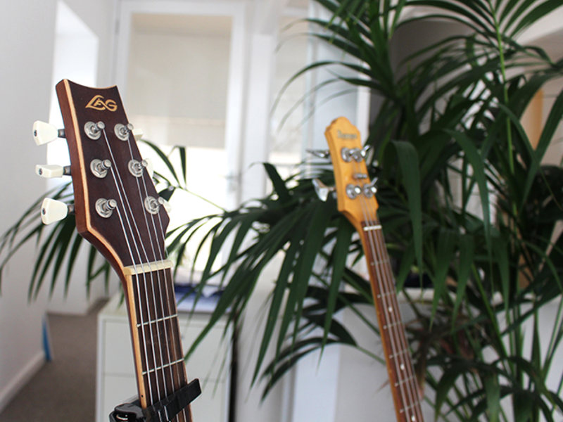 Close up guitars