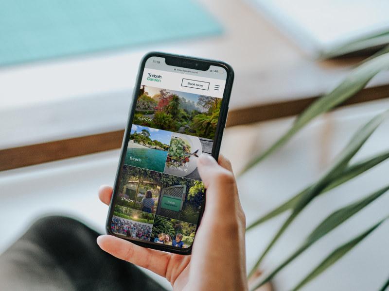 Photograph of Trebah Garden mobile device