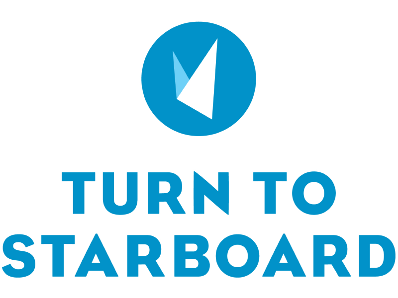 Turn to starboard logo in full colour